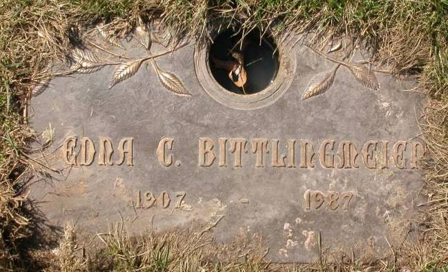 The Hollywood Memorial Park Grave Marker of William and Anna Bittlingmeier