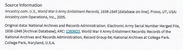 Donald G. Abrams' World War II Army Enlistment Record