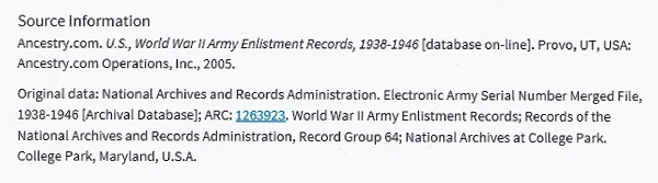 George C. Bechtold's World War II Enlistment Record