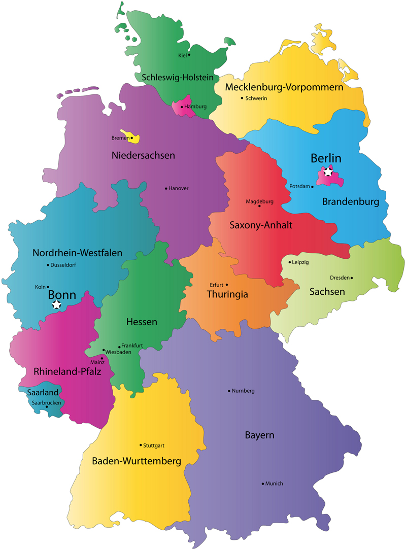 Map of Germany States