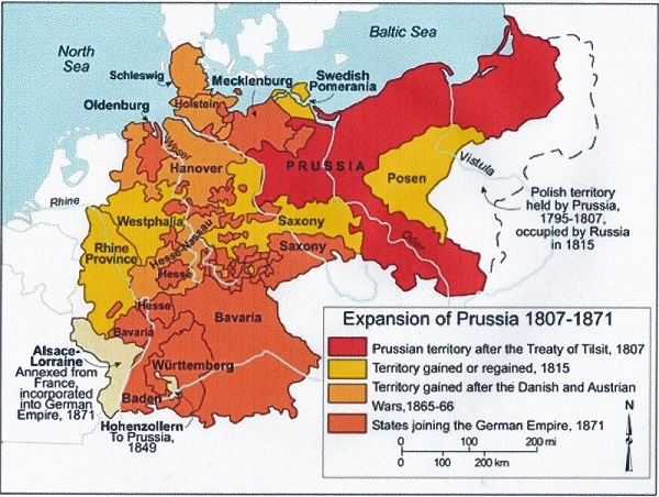 Map of Germany 1871
