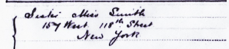 James Findlay Smith Immigration Record