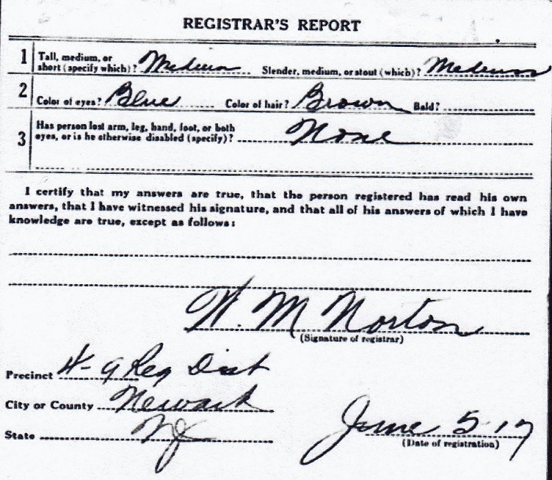 John J. Bechtold's World War I Draft Registration Card Part 2