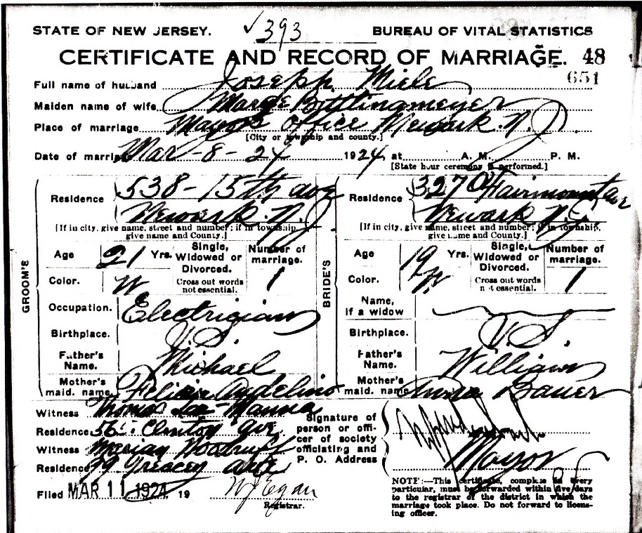 Margaret Bittlingmeier and Joseph Miele Marriage