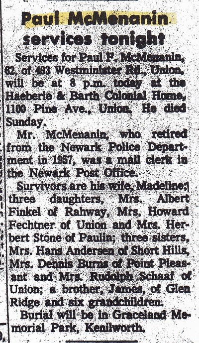 Paul McMenamin Obituary 2