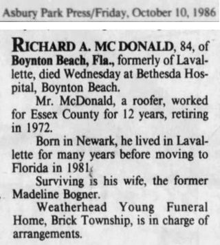 Richard A. McDonald Obituary