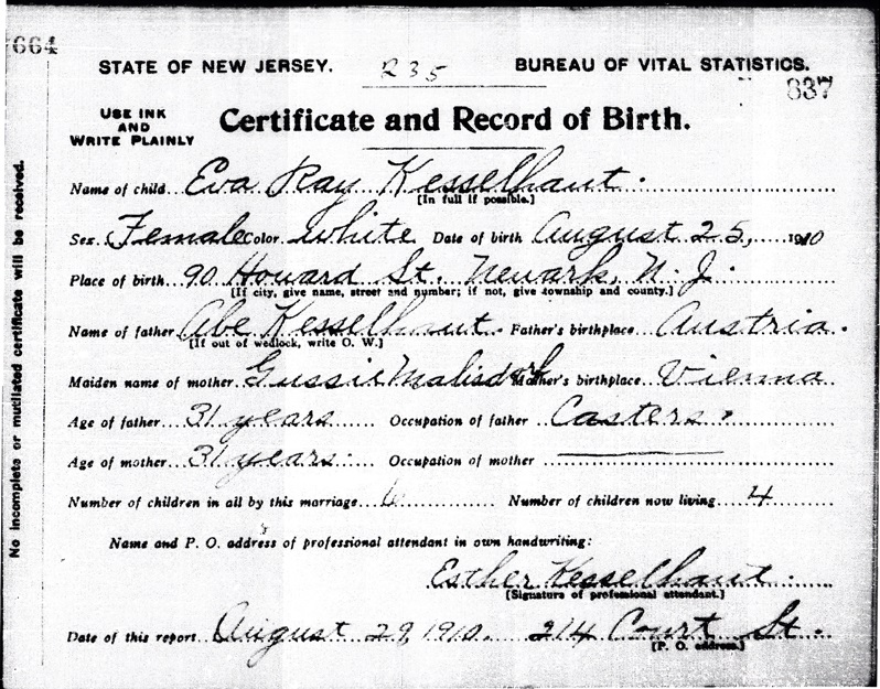 Newark Nj Birth Certificate - Best Design Sertificate 2018