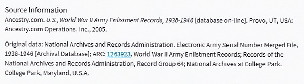 Robert E. Bechtold's World War II Enlistment Record